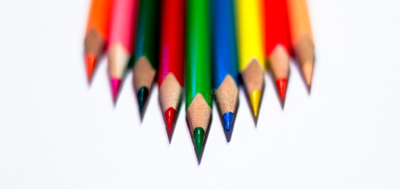 铅笔有白色背景 免版税库存图片