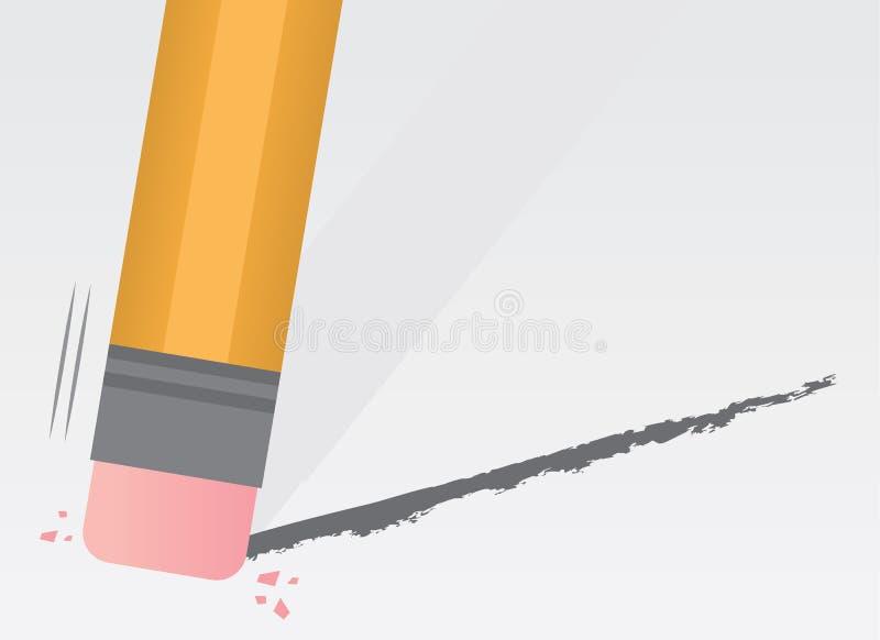 铅笔清除 皇族释放例证