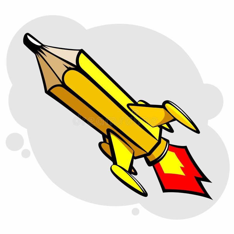 铅笔火箭 向量例证