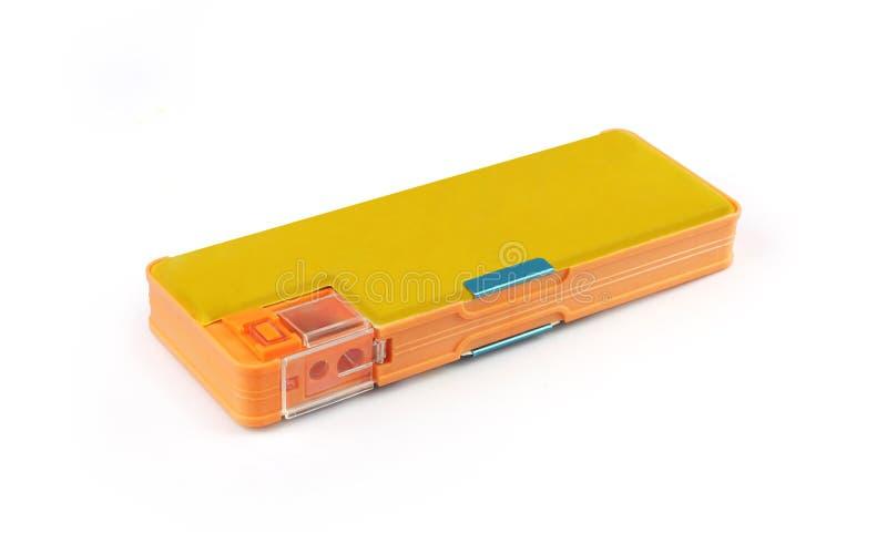 铅笔盒 免版税库存图片