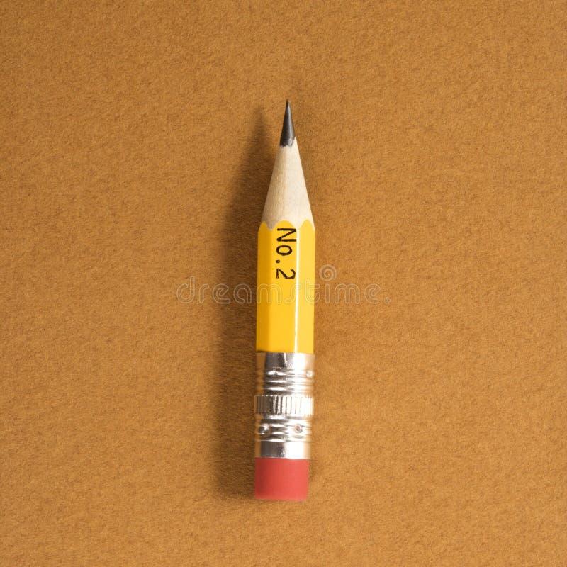铅笔短小 免版税库存照片