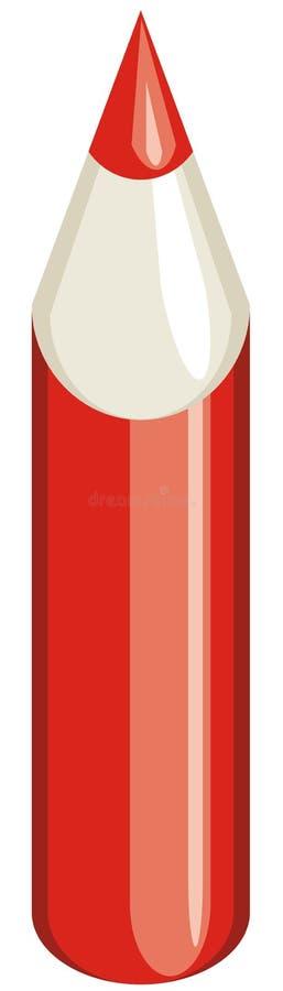 铅笔红色 皇族释放例证