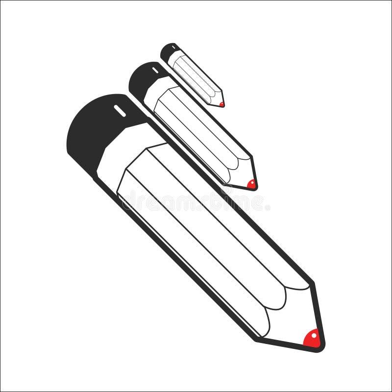 铅笔线艺术传染媒介 向量例证