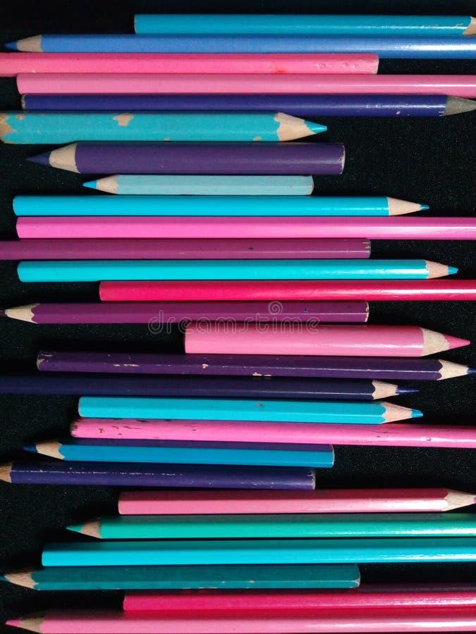 铅笔组合 库存照片