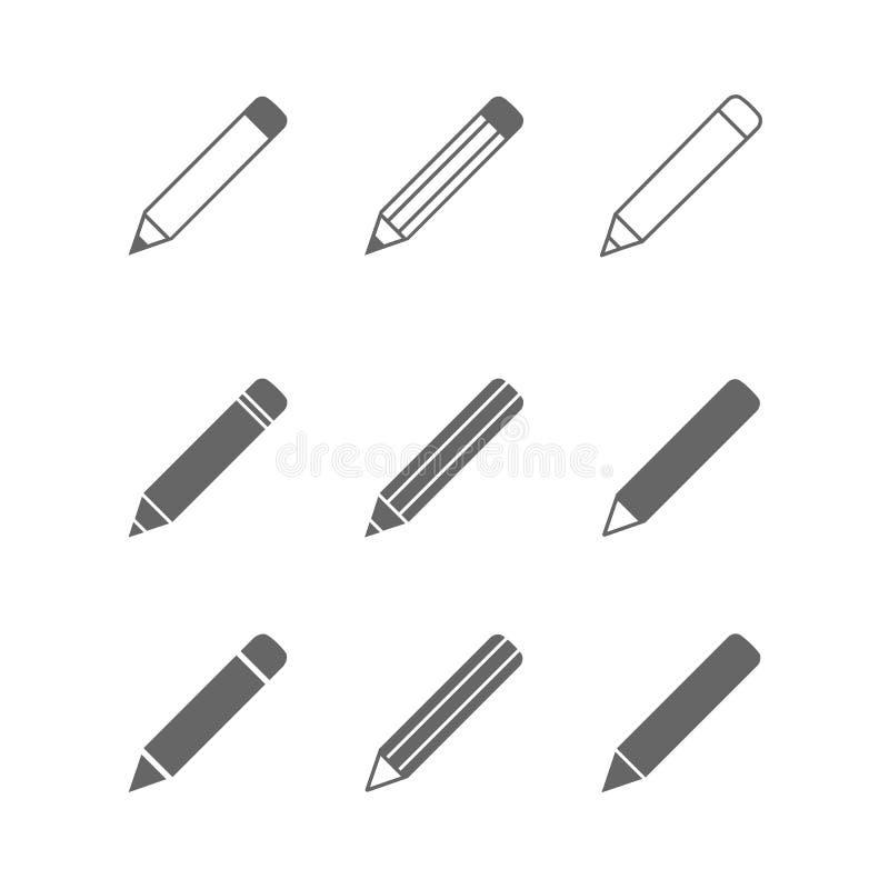 铅笔象 向量例证