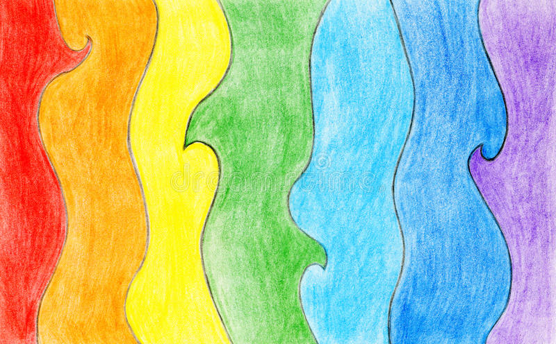 铅笔颜色彩虹背景 免版税库存图片