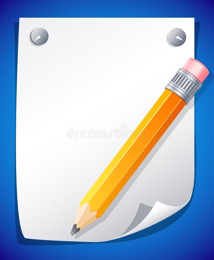 铅笔黄色 皇族释放例证