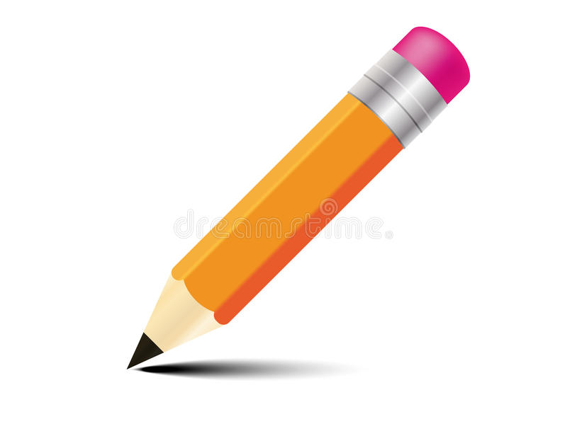 铅笔黄色 库存例证