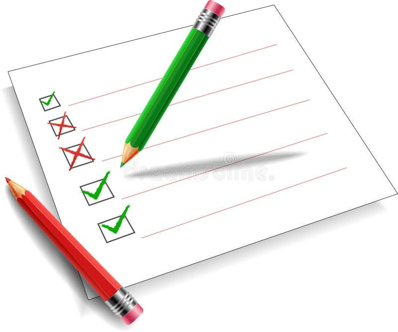 铅笔绿色和红色背景白色 皇族释放例证