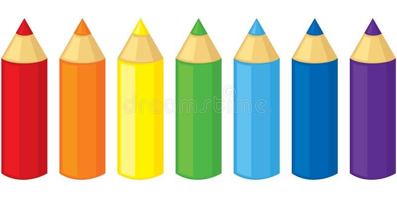 铅笔 皇族释放例证