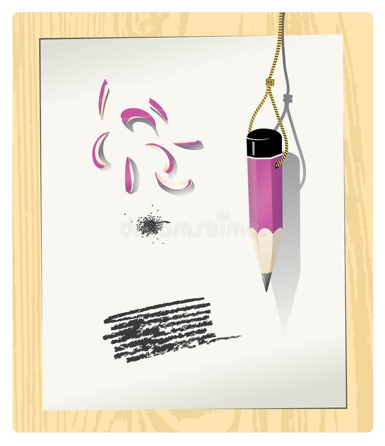 铅笔 库存例证