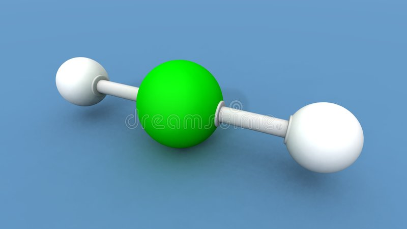 铍氢化物分子 皇族释放例证