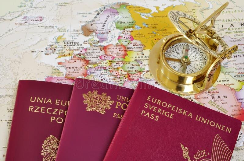 铕映射护照 免版税库存照片