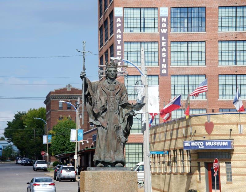 铜和古铜色雕象,圣路易斯,密苏里 免版税图库摄影