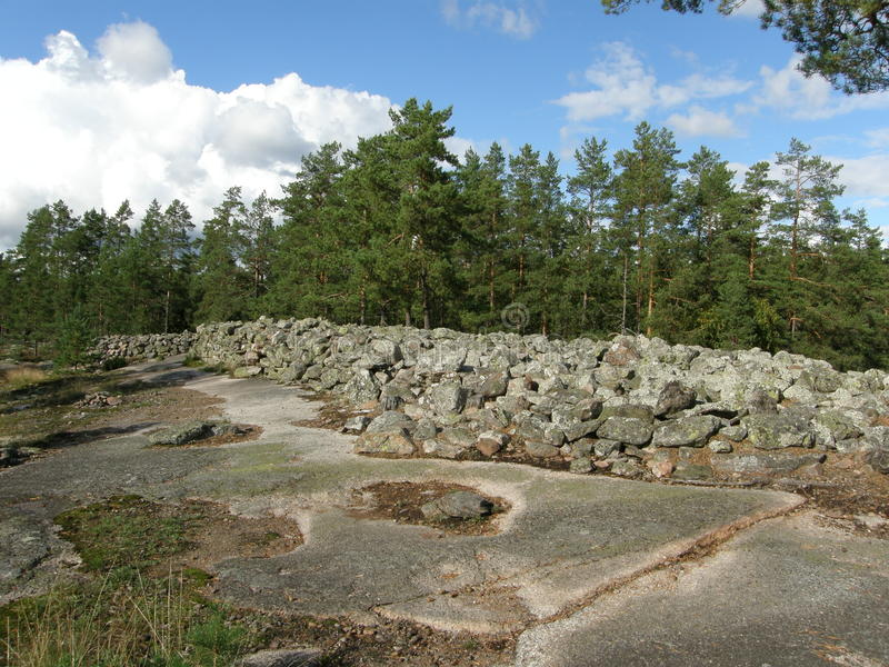 铜器时代掩埋处在芬兰 免版税图库摄影