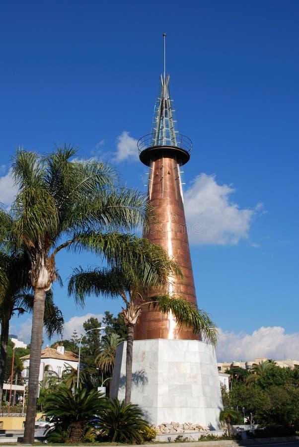 铜方尖碑,马尔韦利亚,西班牙。 库存图片