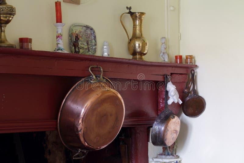 铜果酱碗 免版税库存图片