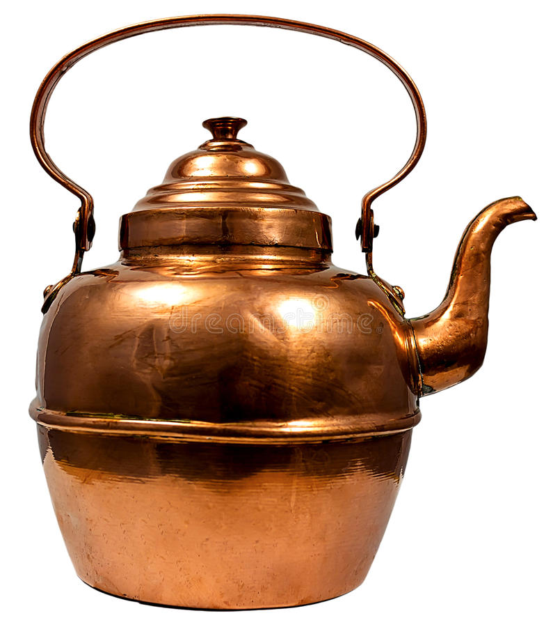 铜水壶 免版税库存照片