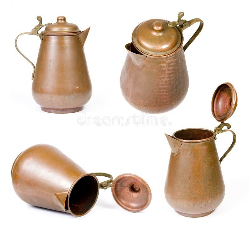 铜水罐葡萄酒 免版税图库摄影