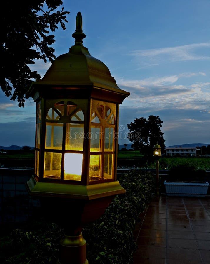 黄铜灯笼 免版税库存图片