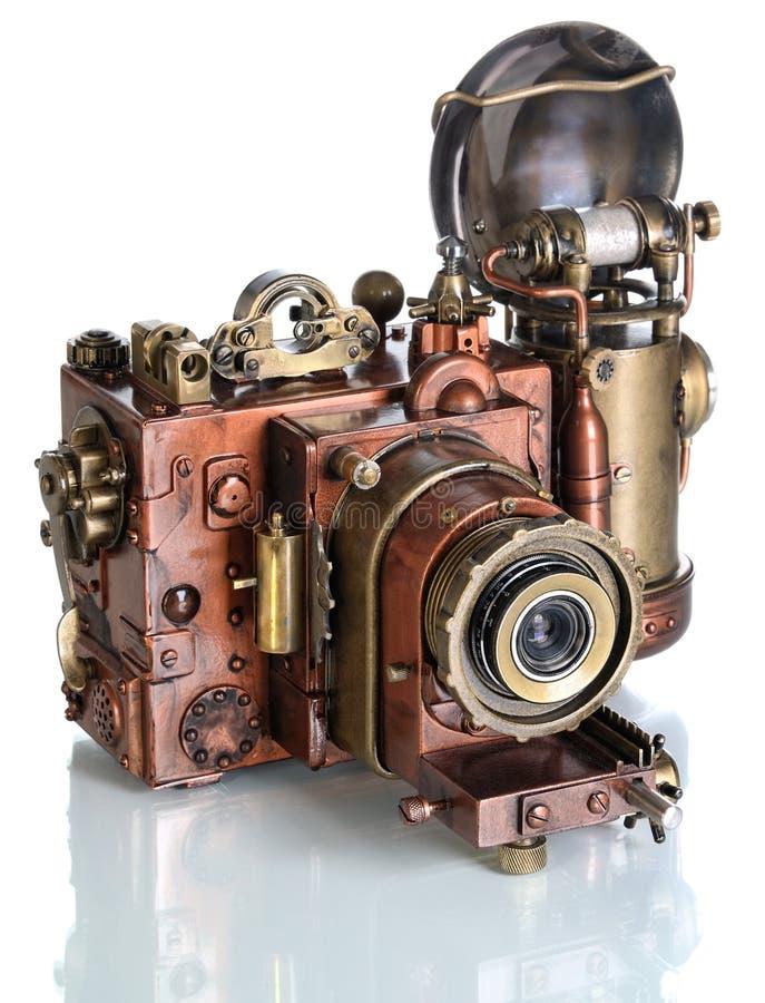 铜照片照相机。 免版税库存图片