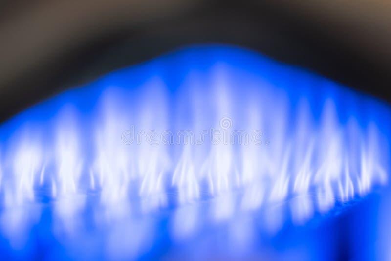 铜燃气锅炉 喷管和火燃气锅炉 图库摄影