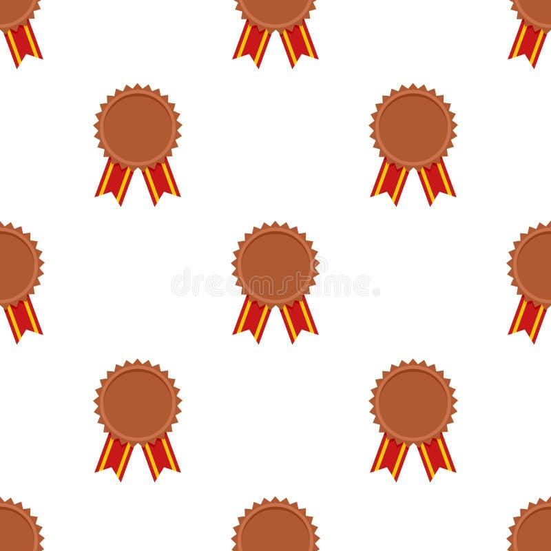 铜牌奖象无缝的样式 皇族释放例证