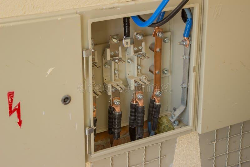 铜电力缆绳准备好连接器2 图库摄影