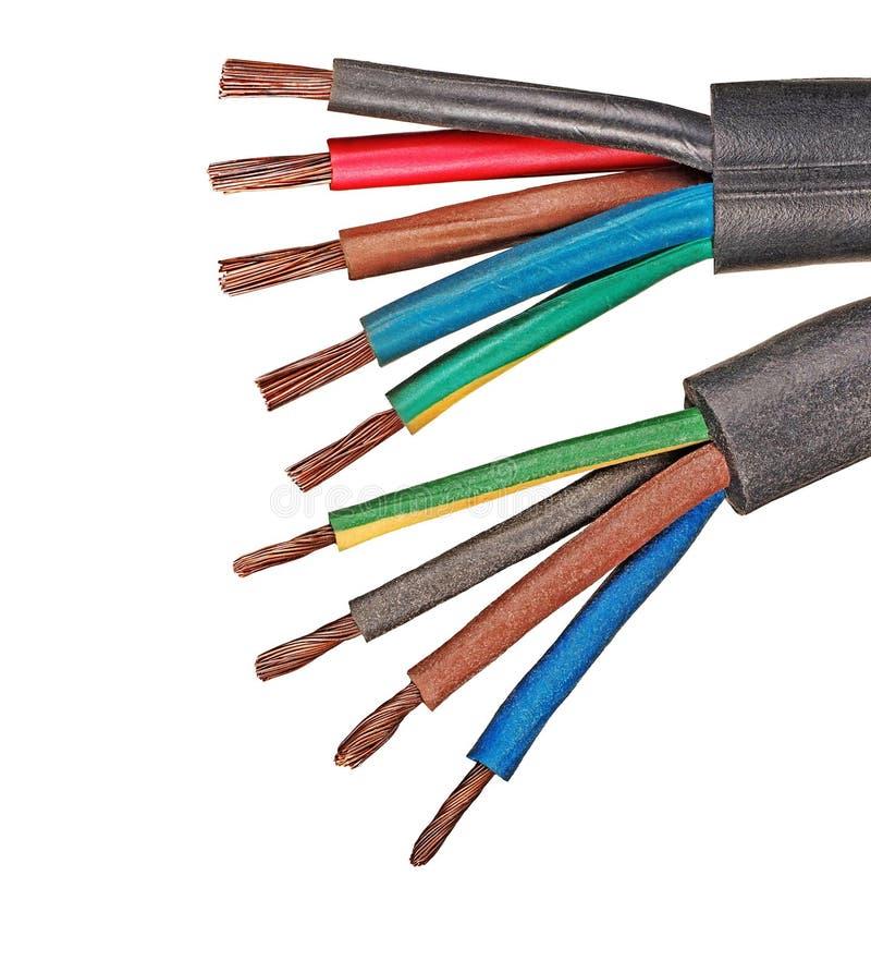 铜电导线 免版税库存照片