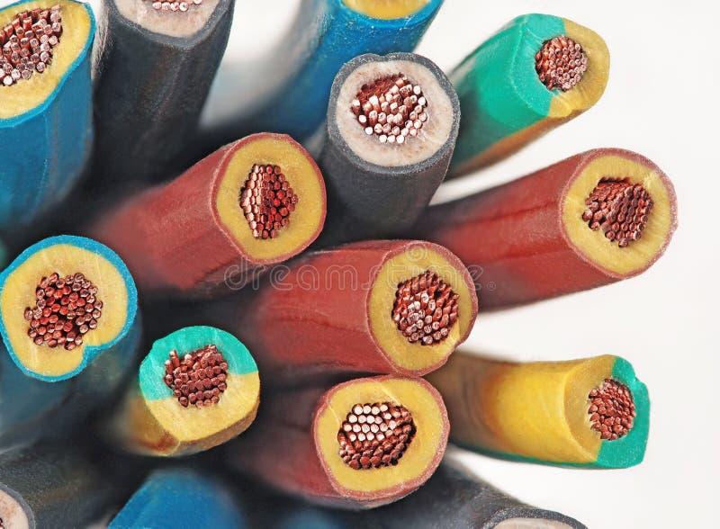 铜电导线 免版税库存图片