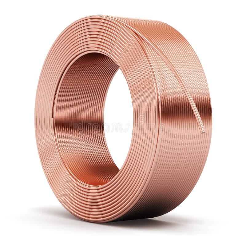 铜电缆厚片  皇族释放例证