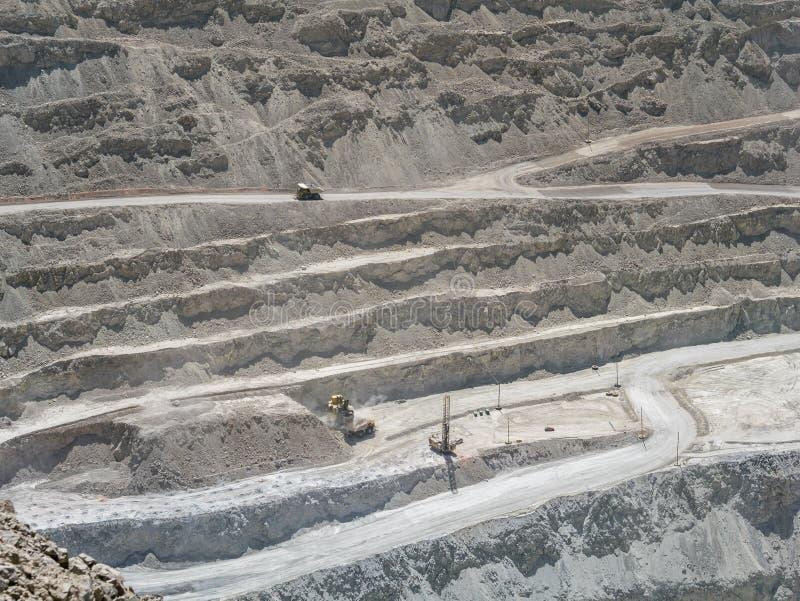铜矿在智利 免版税库存照片
