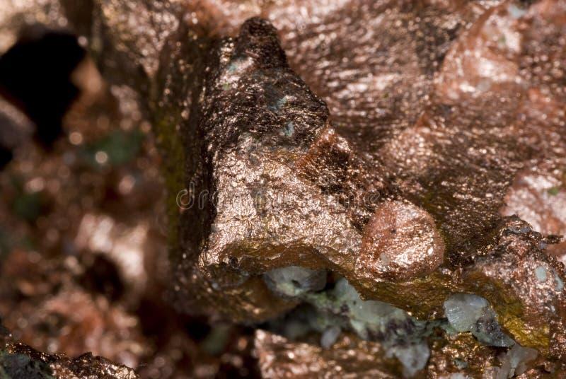 铜矿块 库存图片