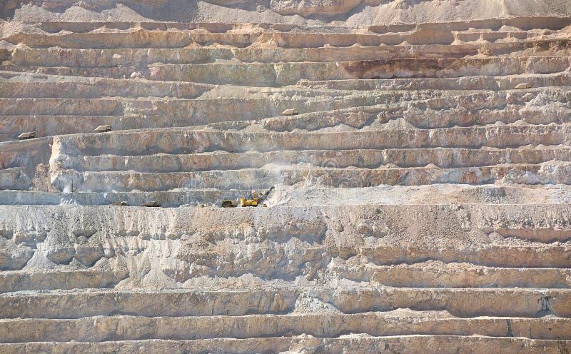 铜矿露天开采矿 图库摄影