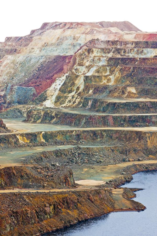 铜矿,米纳斯德里奥廷托,安大路西亚,西班牙 免版税库存照片