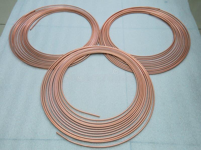 铜管子使用作为一支冷却的管 免版税图库摄影