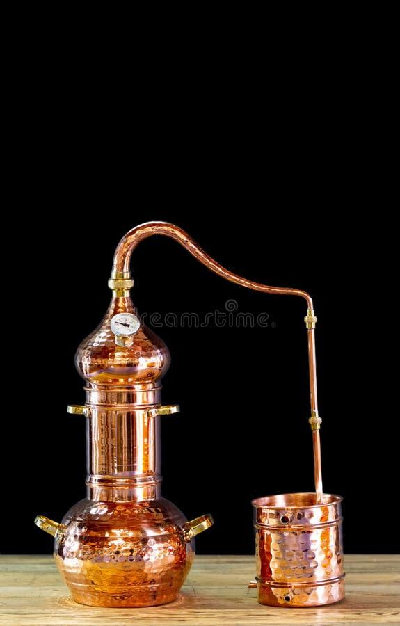 铜蒸馏器 图库摄影