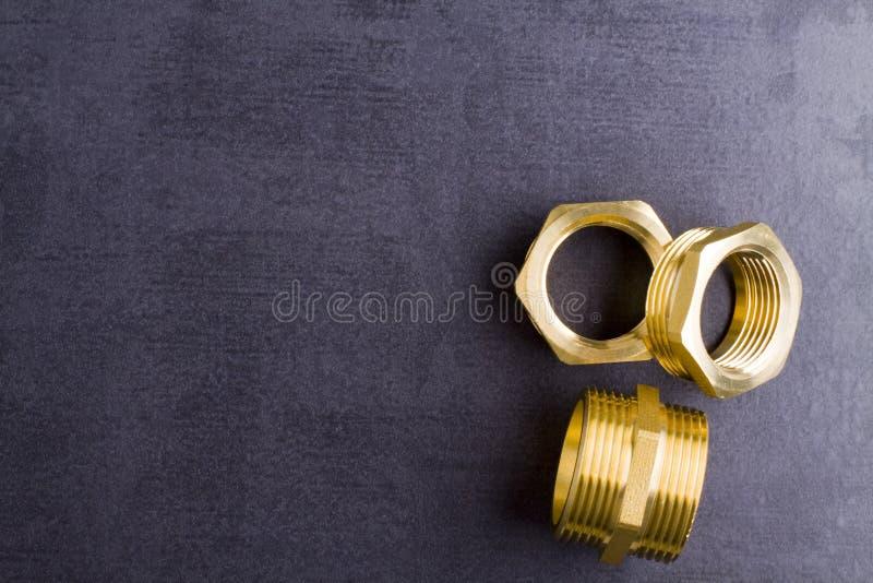 黄铜配件 库存图片