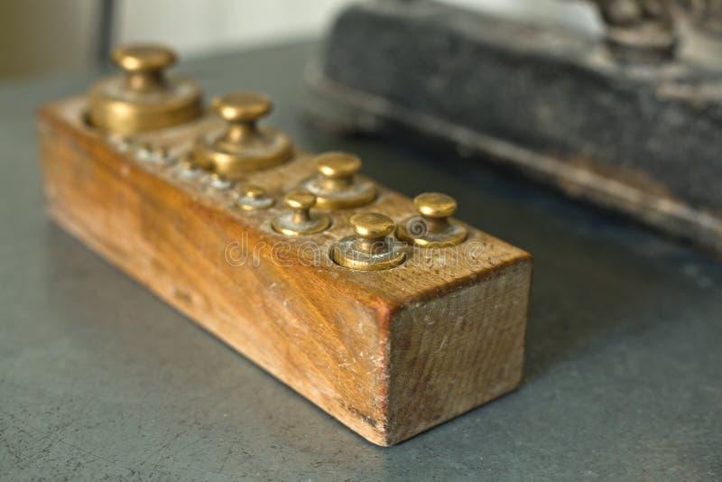 黄铜重量 库存图片