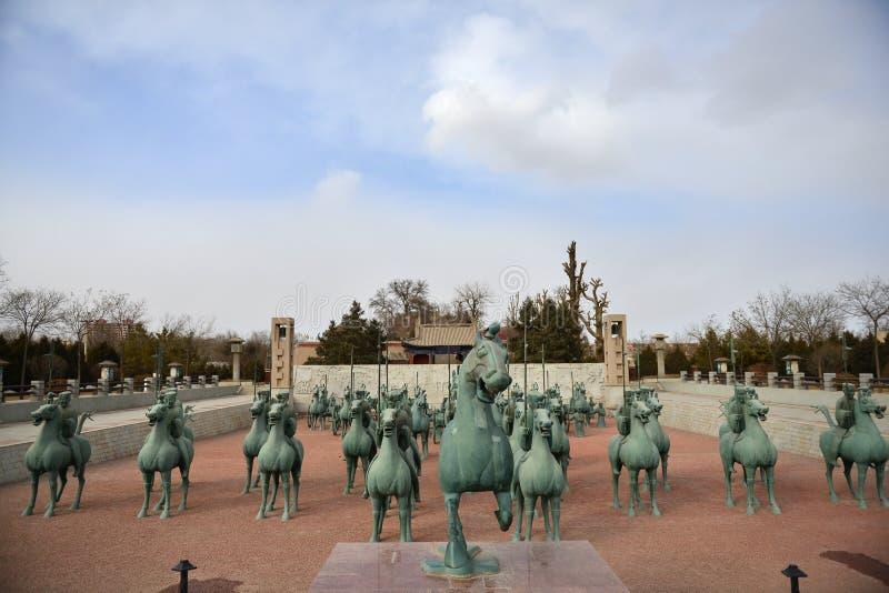 铜马在WuWeiLeiTai 库存图片