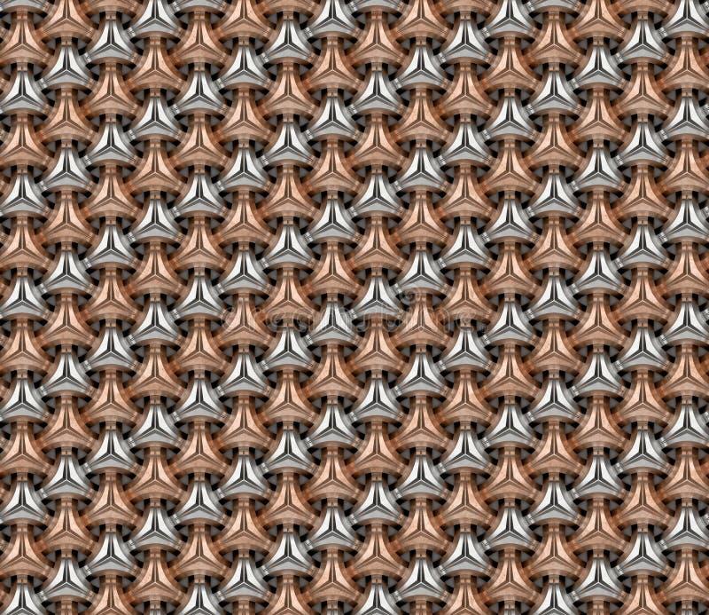 铝和木桶匠几何无缝的背景仿造v 2 向量例证