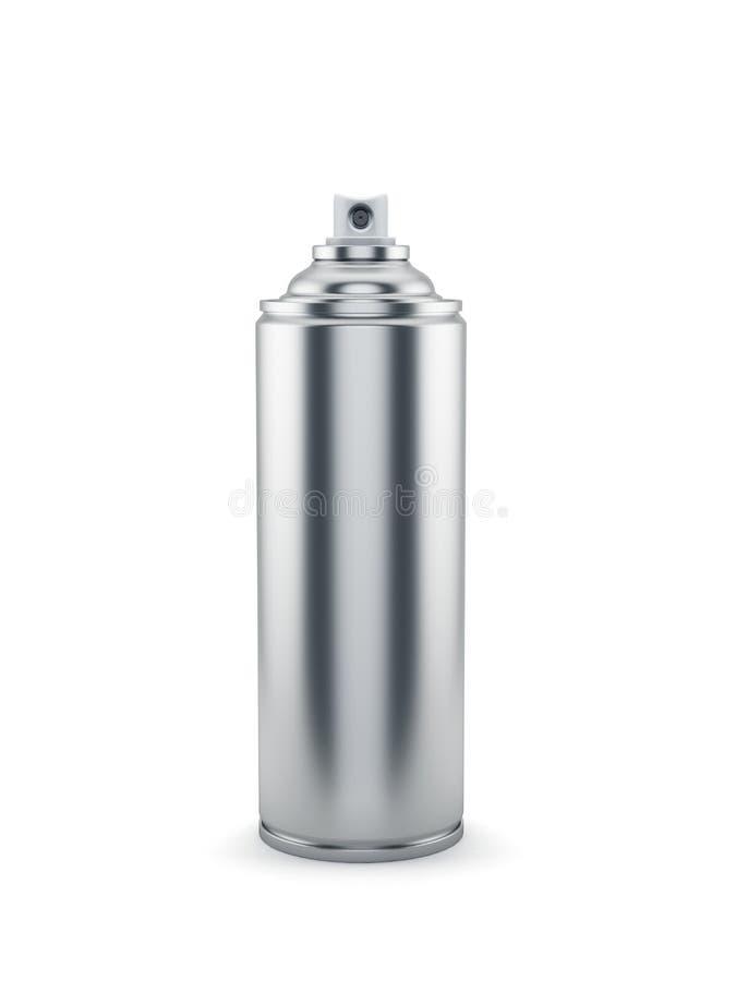 铝喷漆罐头 向量例证