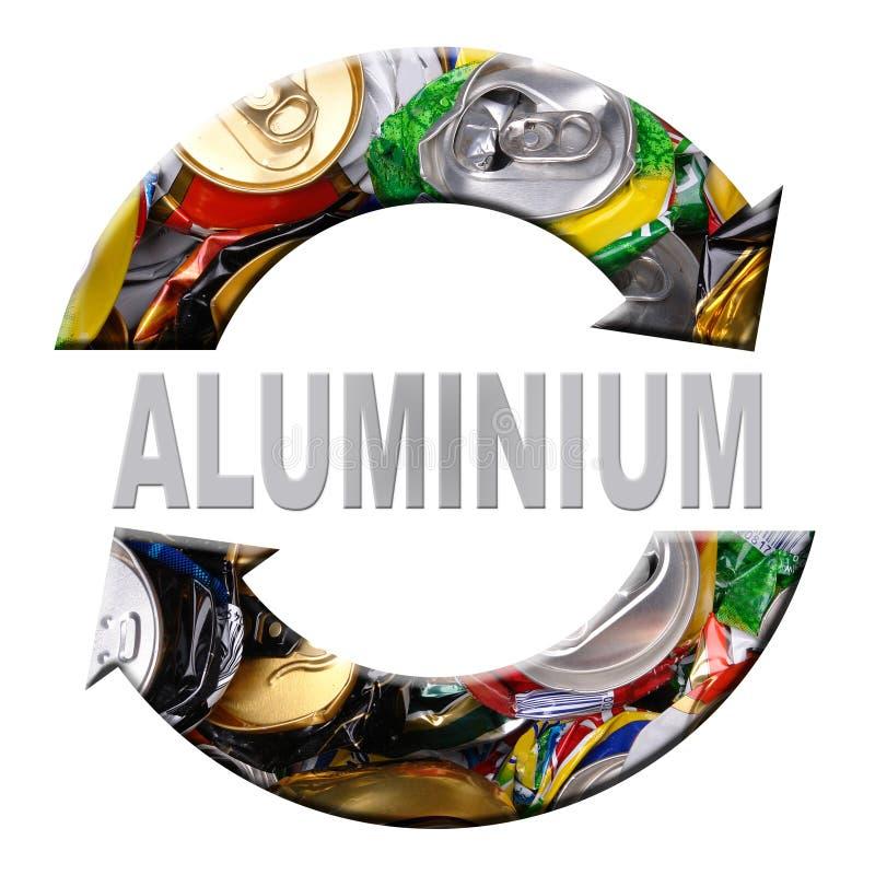 铝回收 库存例证