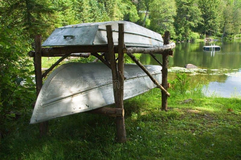 铝小船 免版税库存图片