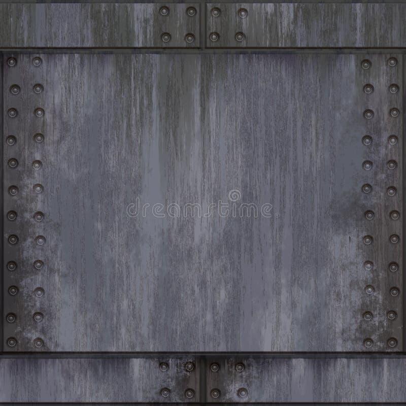 铝掠过了铆牢 向量例证