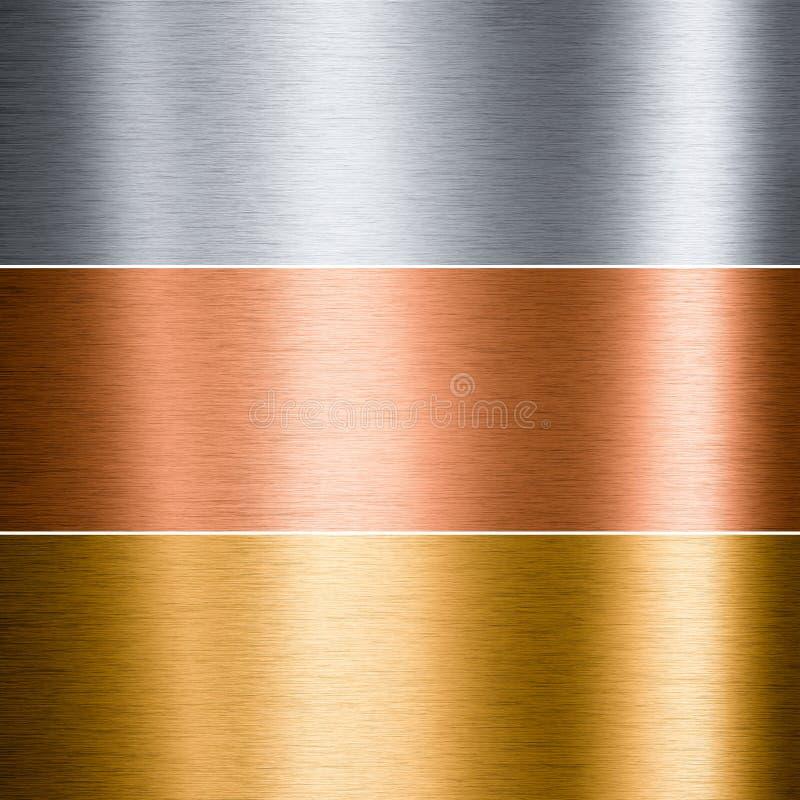 铝掠过的铜金金属 库存图片