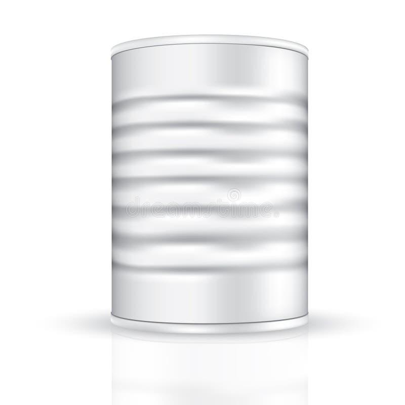 铝有详细的身体设计的罐子圆的容器 向量例证