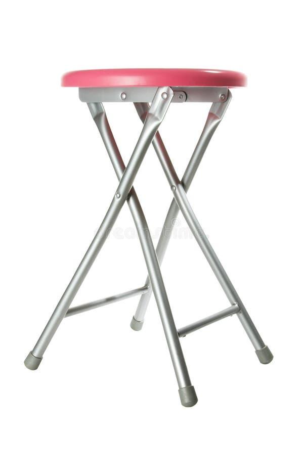 铝桃红色凳子 免版税库存图片