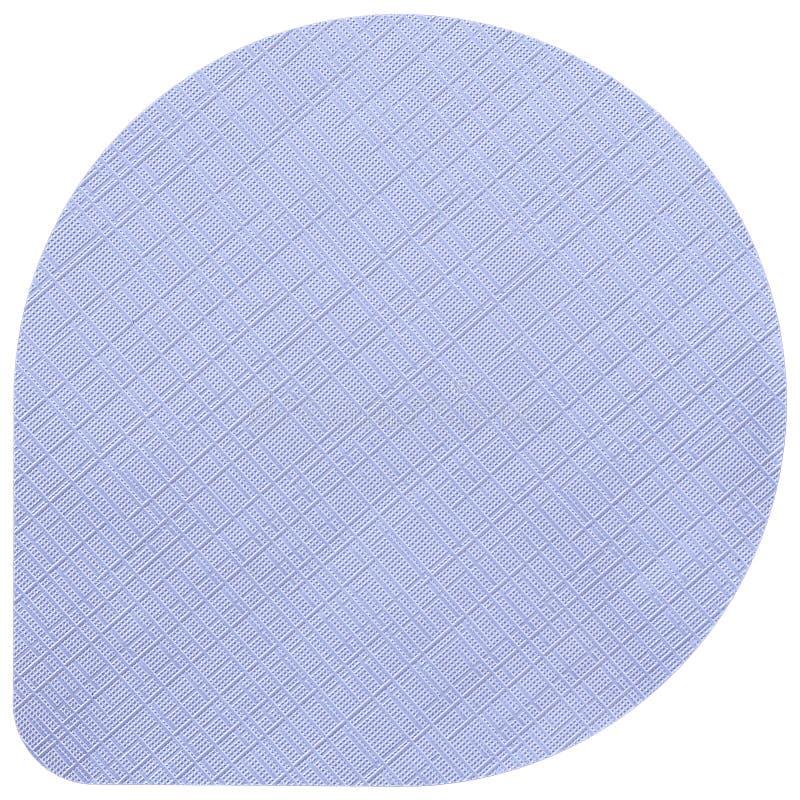 铝热封酸奶盒盖装饰与在白色背景隔绝的布料样式 酸奶的热密封的铝盒盖 库存照片