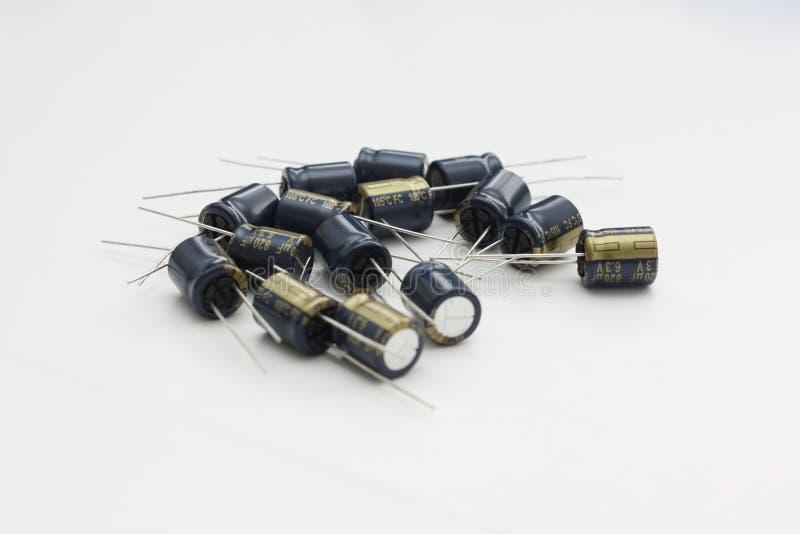 铝电解电容的分类 库存照片